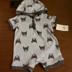 **5 for $15** Baby Romper w/ French Bulldogs